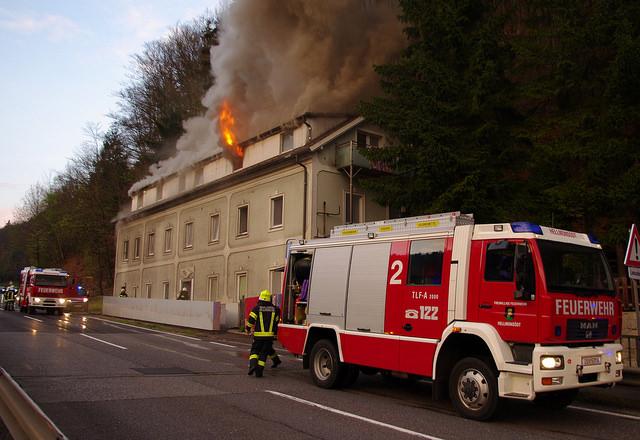 Großbrand Asylheim