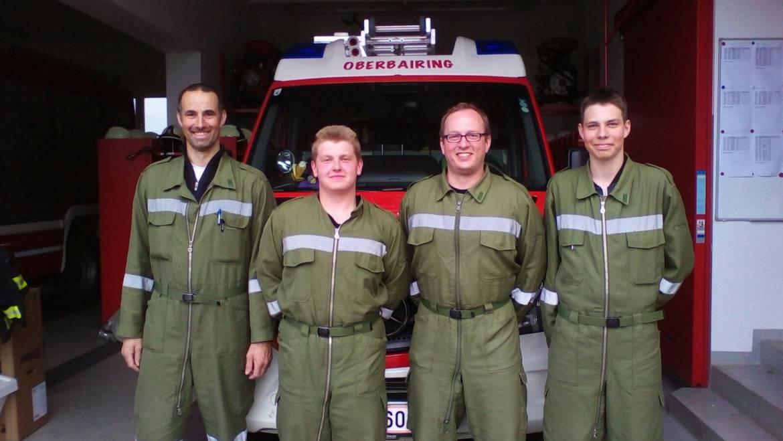 4 neue Feuerwehrmänner