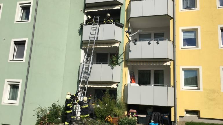 Balkonbrand Raiffeisenweg