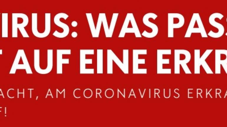 Coronavirus: Info zu Verdacht auf Erkrankung