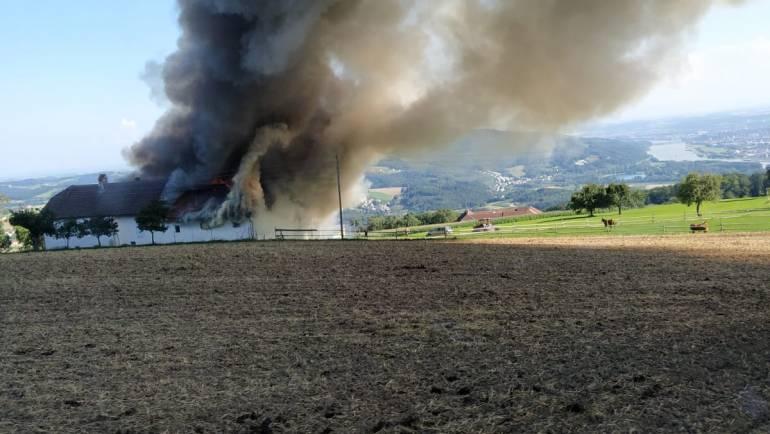 Großbrand Bauernhof