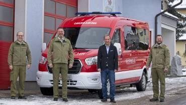 Übergabe neues Mannschafts-Transportfahrzeug